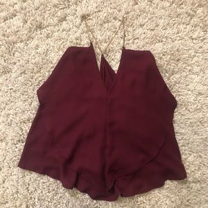 NWT Charlotte Russe Gold Link Spaghetti Strap Top